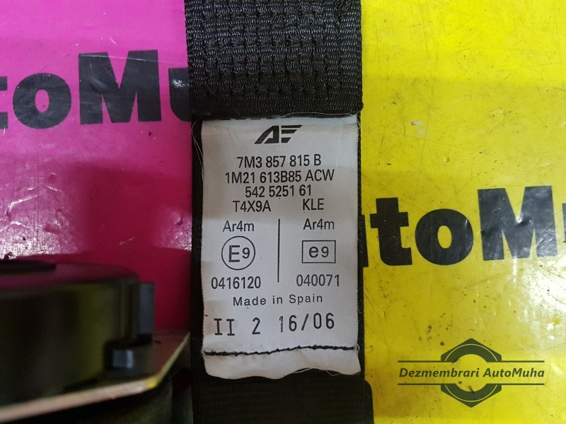 Centura de siguranta st. spate 13679926 Volkswagen 7M3857815B